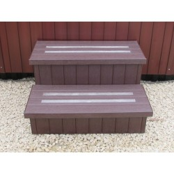 "Anti-slip spa step 28"" Mahogany"