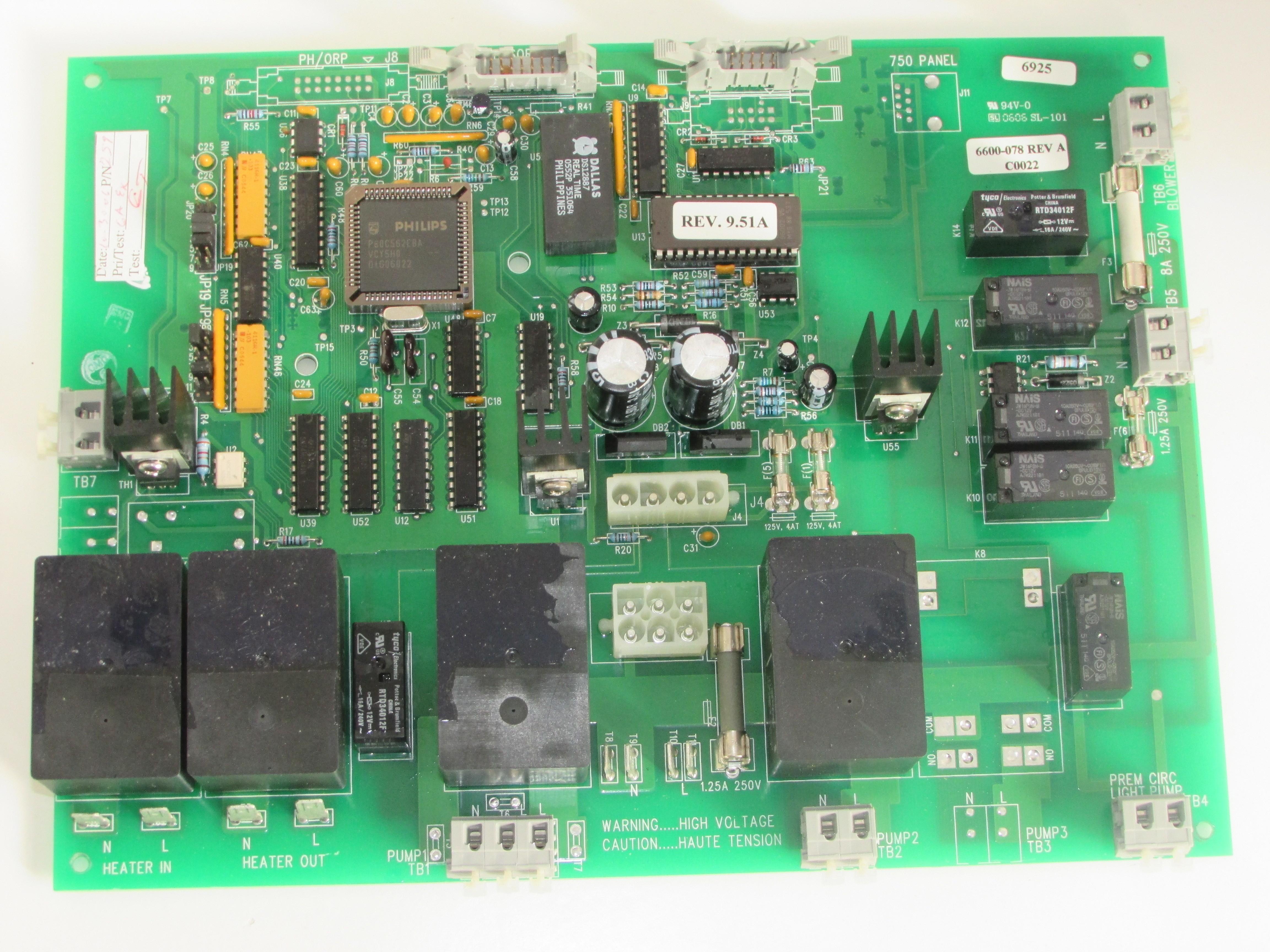 Circuito Impreso : Placa de circuito impreso jacuzzi j bombas lcd parte n