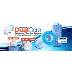 blue antibacterial filter with dual core system ( coarse thread)