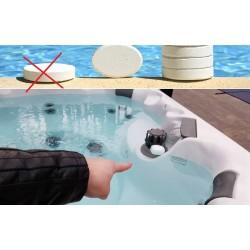 ¿Se pueden usar los productos químicos para piscinas (cloro) en el jacuzzi? posibles daños?