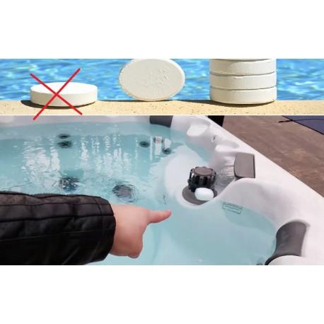 Kan zwembad chemische producten (chloor) worden gebruikt voor jacuzzi? mogelijke schade?