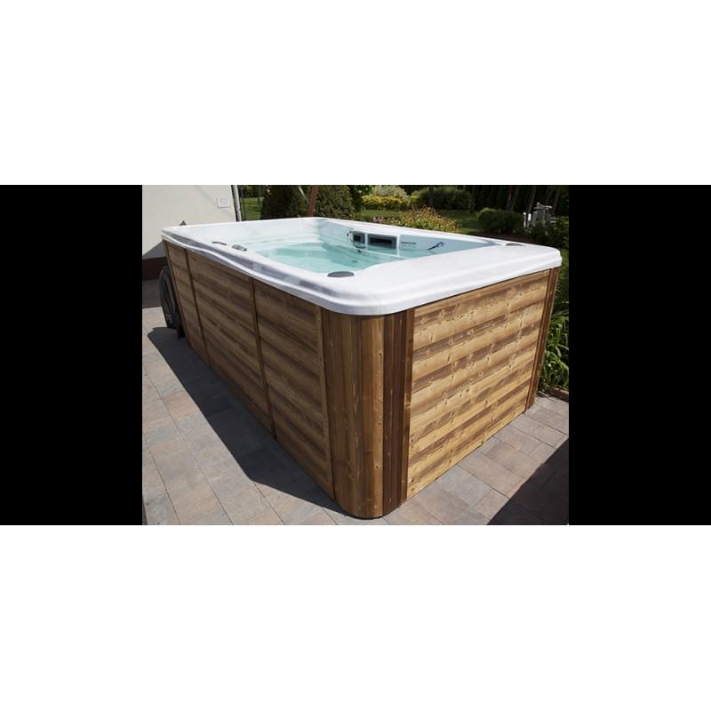 Aqua power swim spagarage for Swim spa in garage